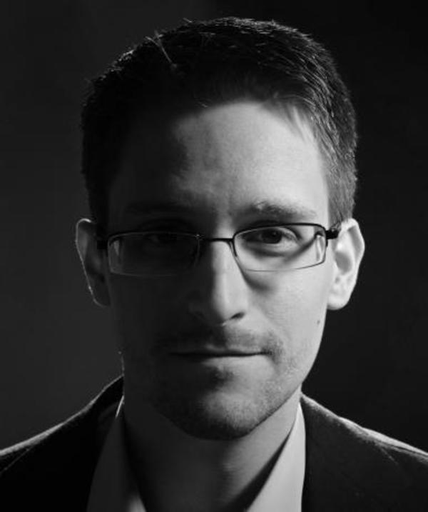 In February 2014, Edward Snowden joined the board of Freedom of the Press Foundation, which published this photo under a Creative Commons Attribution 4.0 International License at https://pressfreedomfoundation.org/about/board/edward-snowden
